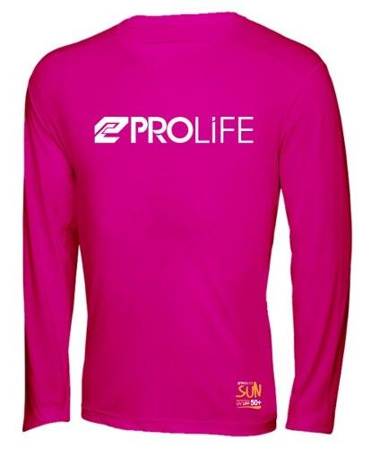 Blusa Feminina Sun Protection Prolife Rosa - Proteção Solar UV UPF 50+  - Radical Peças - Peças para Jet Ski