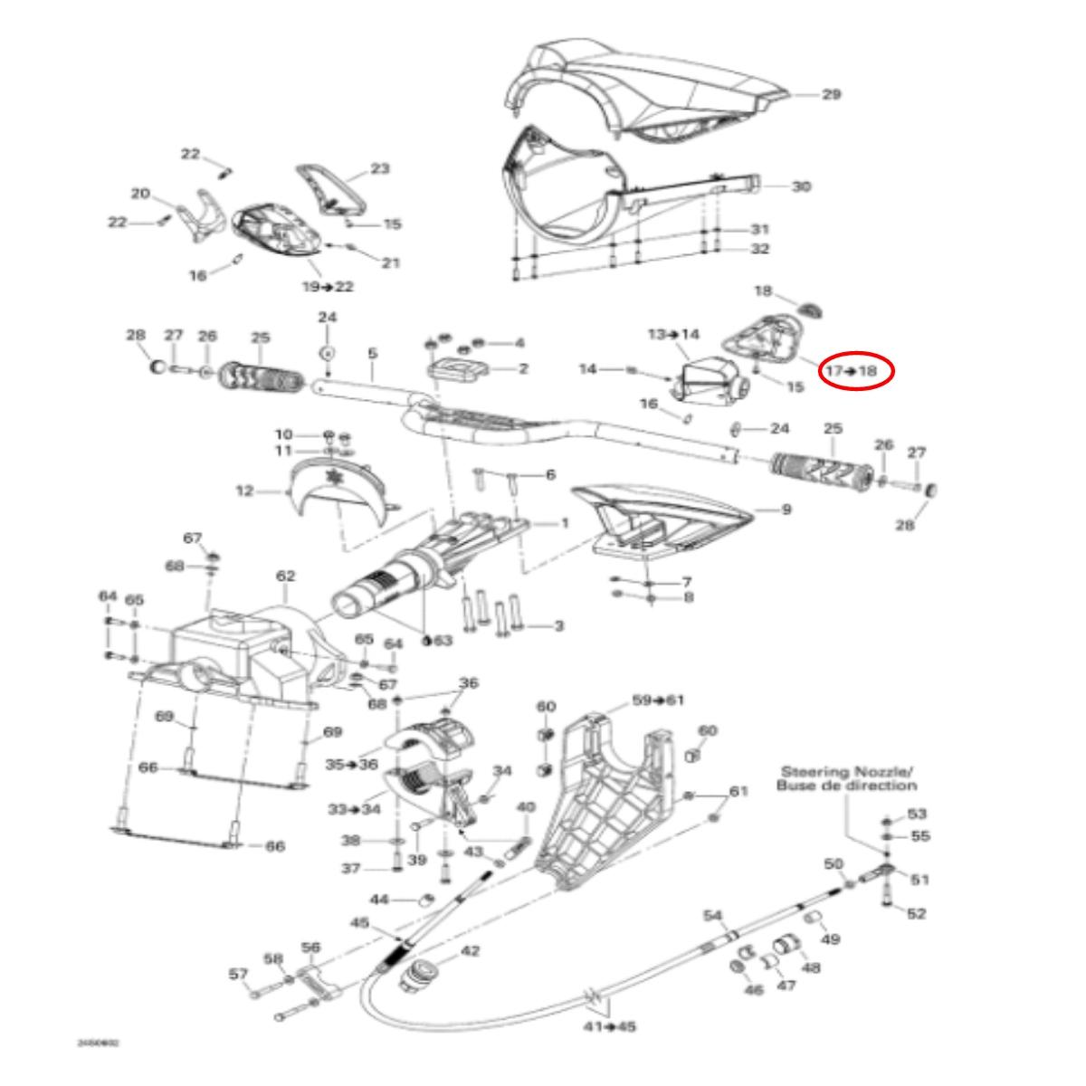 CAPA BOTÃO DE IGNIÇÃO  Jet Ski Sea SEA DOO (GTI,GTX,RXP,RXT)  - Radical Peças - Peças para Jet Ski