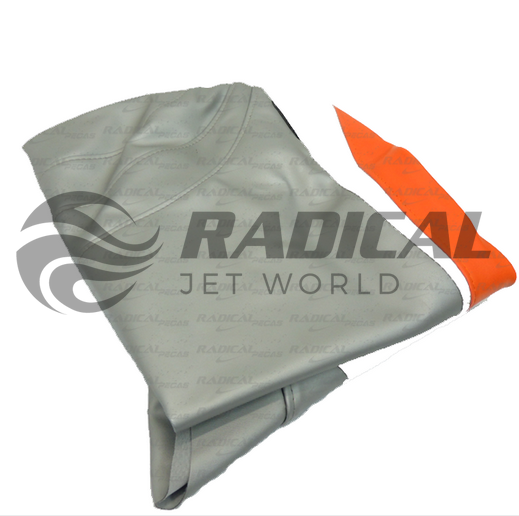 Capa de Banco Jet Ski Sea Doo GTI 130 11/12 Branco/Cinza/Laranja  - Radical Peças - Peças para Jet Ski