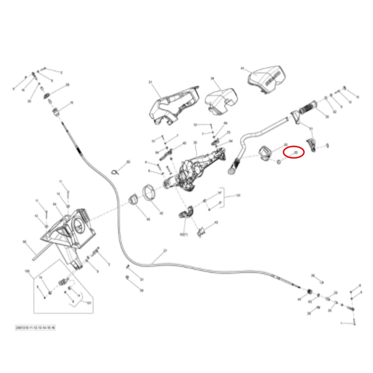 Capa de Botão Start/Stop Jetski Sea Doo 4 Tec Redonda  - Radical Peças - Peças para Jet Ski