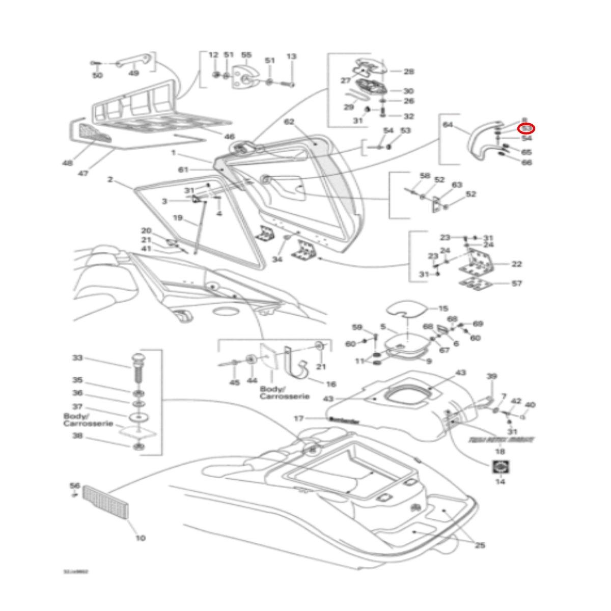 Capa para Arrebite Jet Ski Sea Doo Challenger  - Radical Peças - Peças para Jet Ski