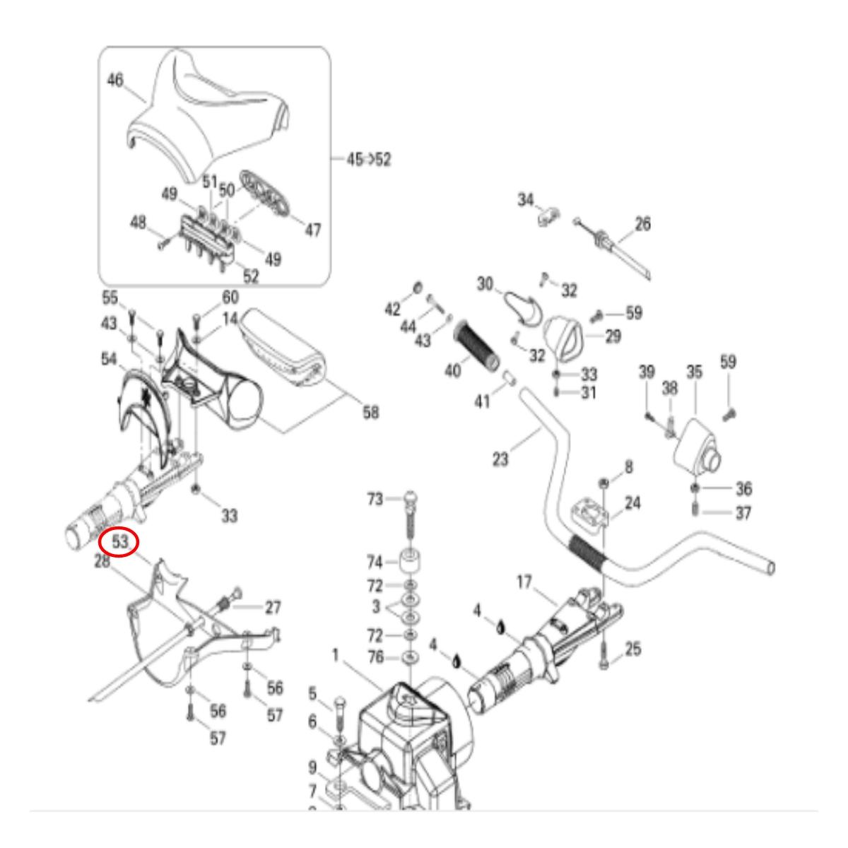 Capa para Guidão Jet Ski Sea Doo GTX 96 Verde Inferior  - Radical Peças - Peças para Jet Ski