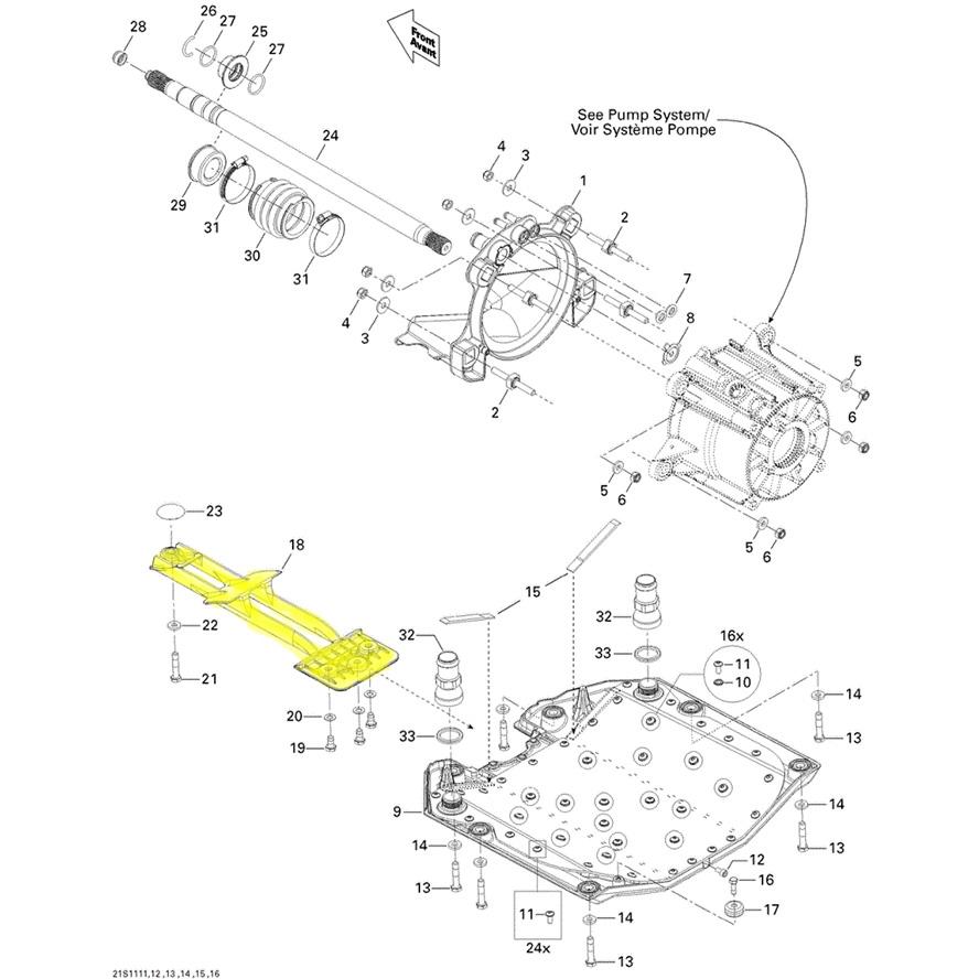 Captador de Água para Jet ski Sea Doo GTI/GTR Original 271001763  - Radical Peças - Peças para Jet Ski