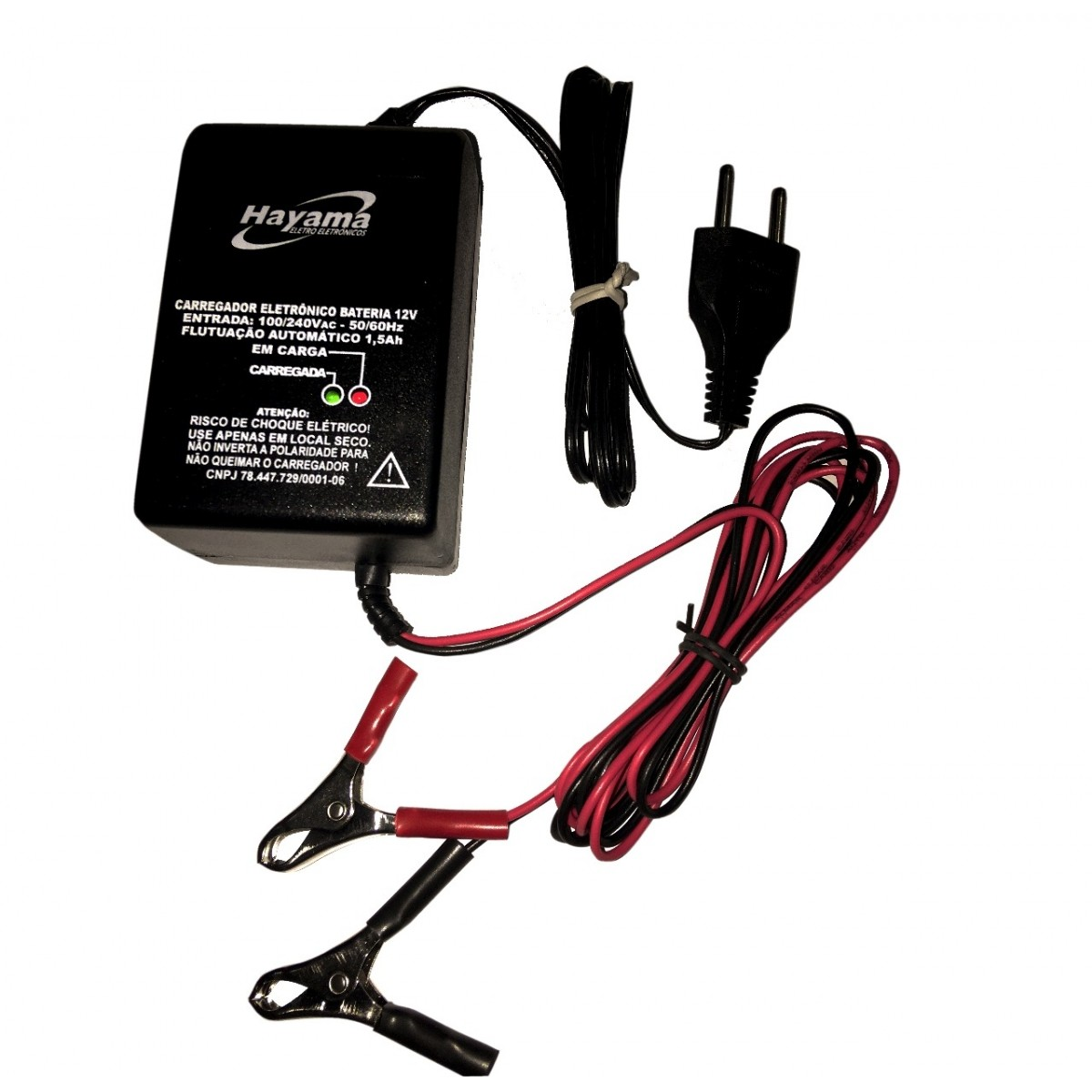 Carregador de Bateria 12v/ 1,5 Ah para Motor de Popa Importada  - Radical Peças - Peças para Jet Ski