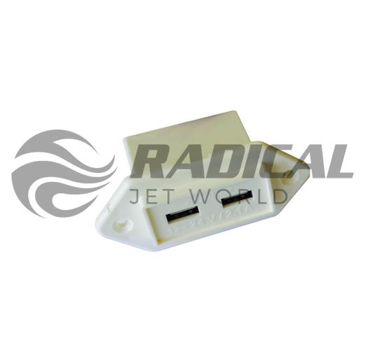 Carregador USB Náutico Branco  - Radical Peças - Peças para Jet Ski