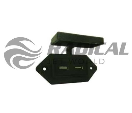 Carregador USB Náutico Preto+  - Radical Peças - Peças para Jet Ski
