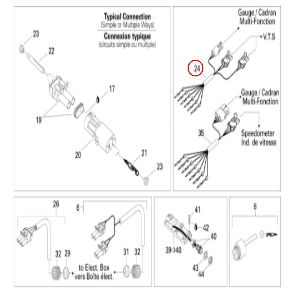 Chicote Multifunção para Jet Ski Sea Doo XP 96  - Radical Peças - Peças para Jet Ski