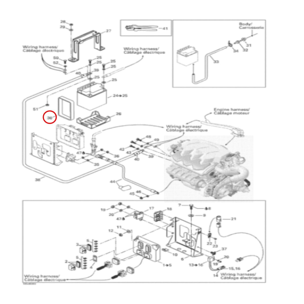 Cinta Bateria Jet Ski Sea Doo 4 TEC  - Radical Peças - Peças para Jet Ski