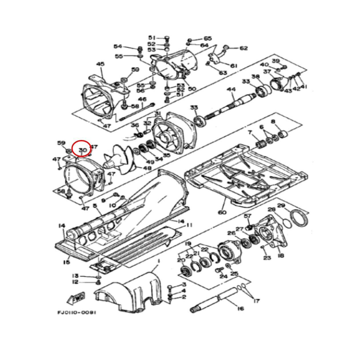 CINTA DA TURBINA YAMAHA WR700 / WR760 / GP760  - Radical Peças - Peças para Jet Ski