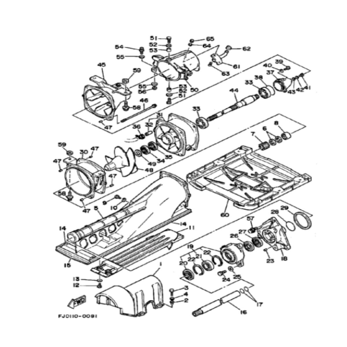 Cinta de Turbina Fina para Jet Ski Yamaha SHO,VX,FZS,FZR Sob Medida  - Radical Peças - Peças para Jet Ski