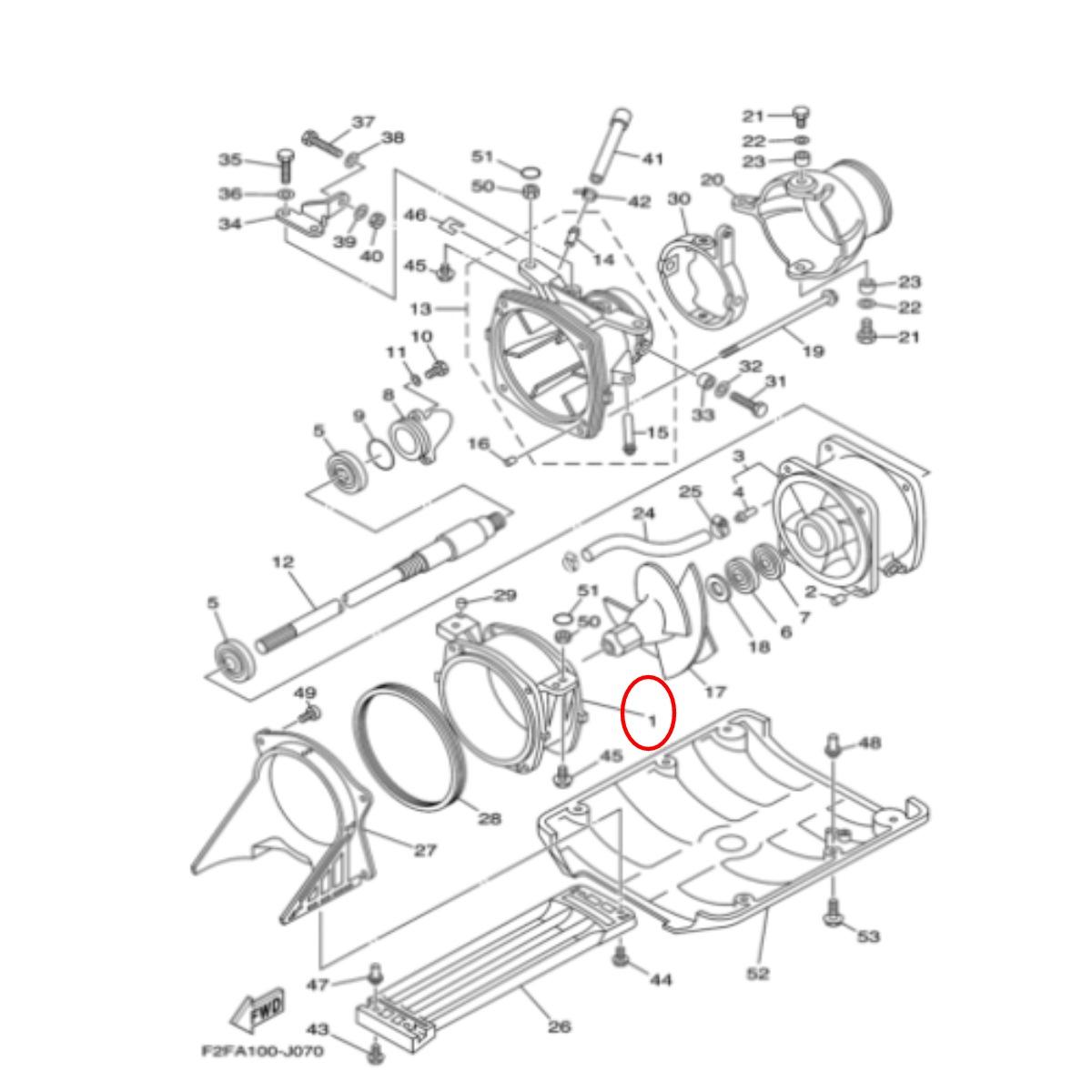 Cinta de Turbina Jet Ski Yamaha 650/700  - Radical Peças - Peças para Jet Ski