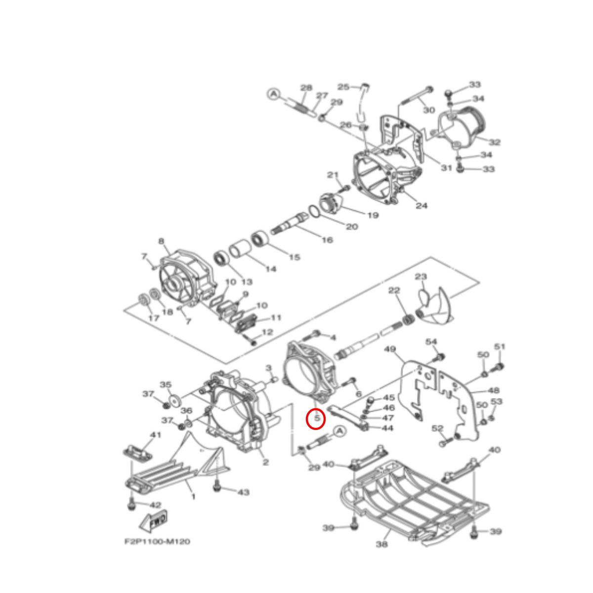 Cinta de Turbina para Jet Ski Yamaha 800/1200/1300R 4 Tempos  - Radical Peças - Peças para Jet Ski