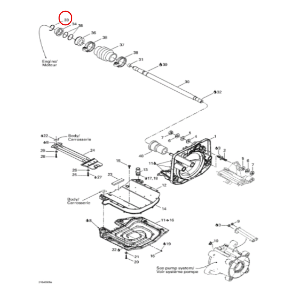 Clip Eixo Transmissão Jet Ski SEADOO GTI,GTX 155 4 TEC  - Radical Peças - Peças para Jet Ski