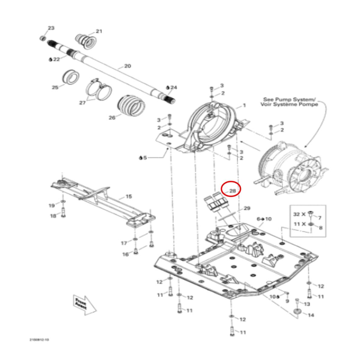 Conector de Água Sea Doo Rxt*  - Radical Peças - Peças para Jet Ski