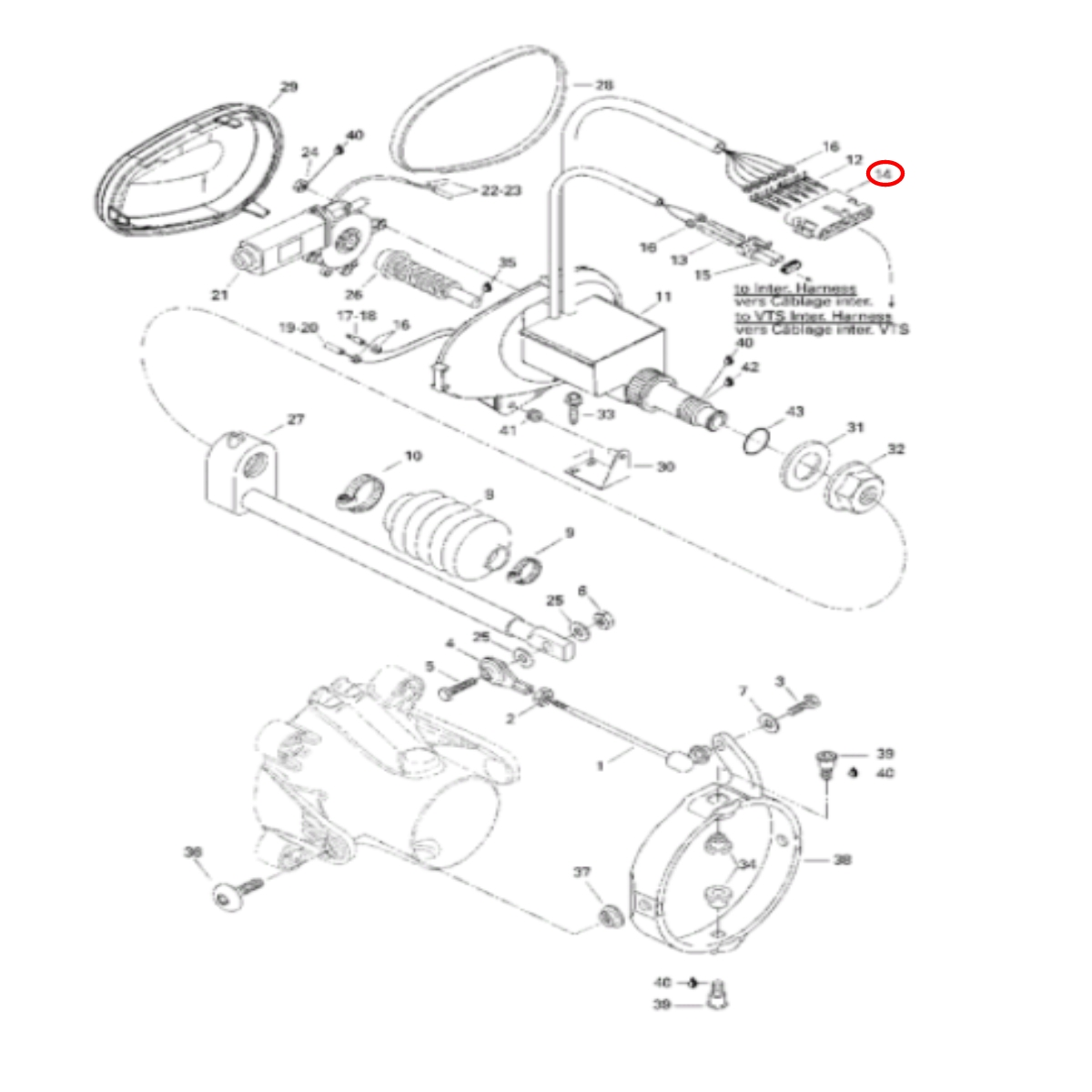 Conector Elétrico 6 fios para Jet Ski Sea Doo GTX,GTI,GSX,XP  - Radical Peças - Peças para Jet Ski