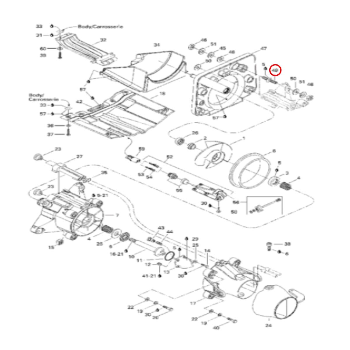 Conector Fêmea Jet Ski Sea Doo GTI/GTX/RXP/XP/HX  - Radical Peças - Peças para Jet Ski