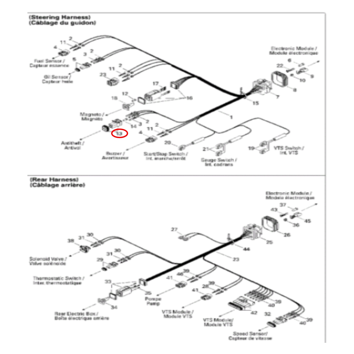 Conector Macho 4 Fios Jet Ski Sea Doo GS/GTI/GTX  - Radical Peças - Peças para Jet Ski