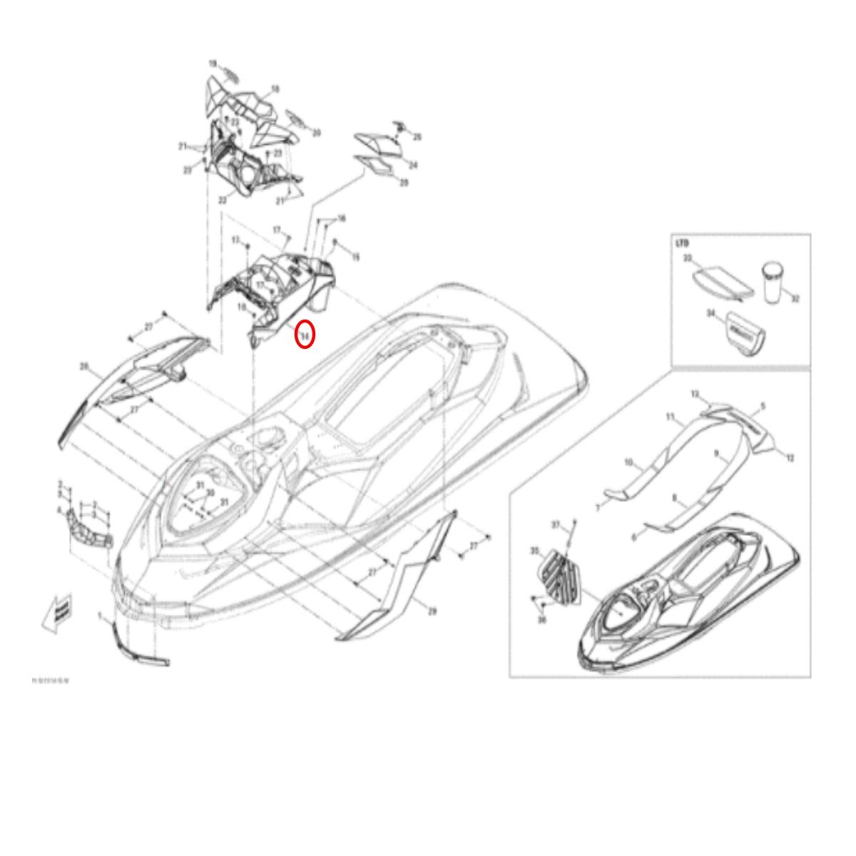 Console Original  Jet Ski SEADOO 11/18 (TRANSPORTE A COMBINAR)  - Radical Peças - Peças para Jet Ski