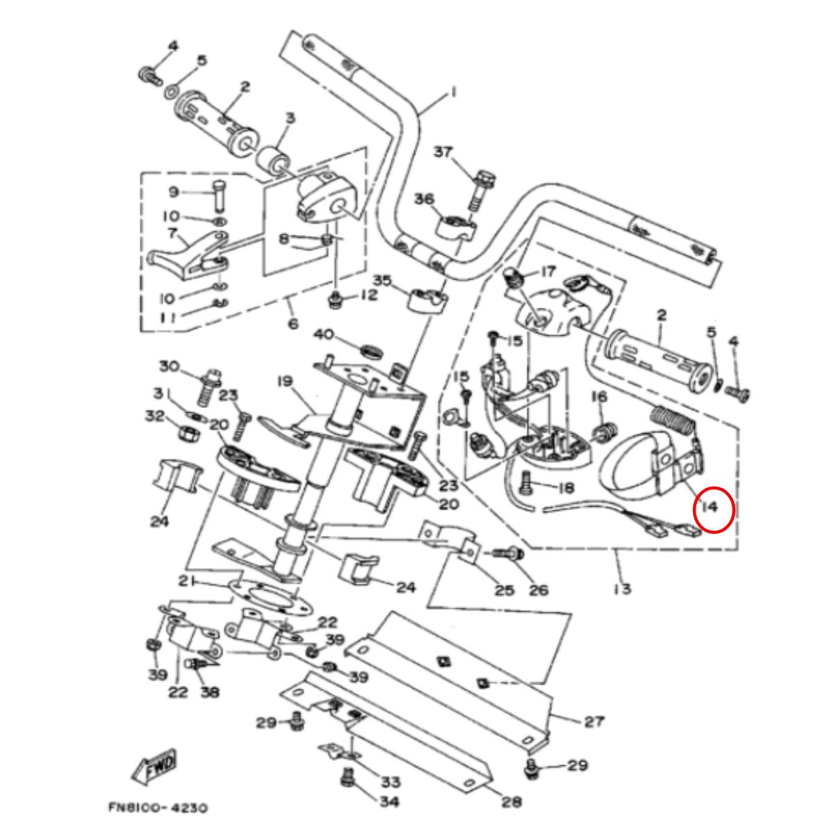 Corta Circuito Motor Popa/Jet Yamaha Cordão  - Radical Peças - Peças para Jet Ski