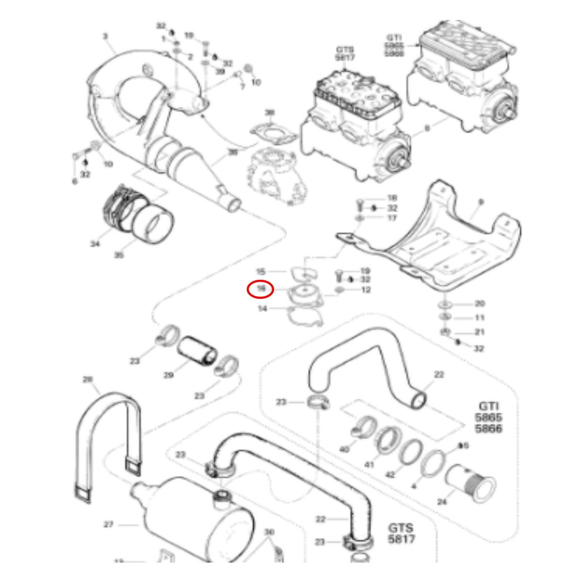 Coxim do Motor para Jet ski Sea Doo 580cc/650cc/720cc  - Radical Peças - Peças para Jet Ski