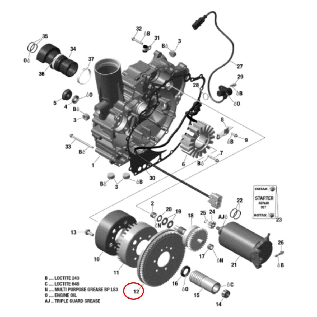 Cremalheira para Jet Ski Sea Doo GTI/GTX 4 TEC Simples  - Radical Peças - Peças para Jet Ski