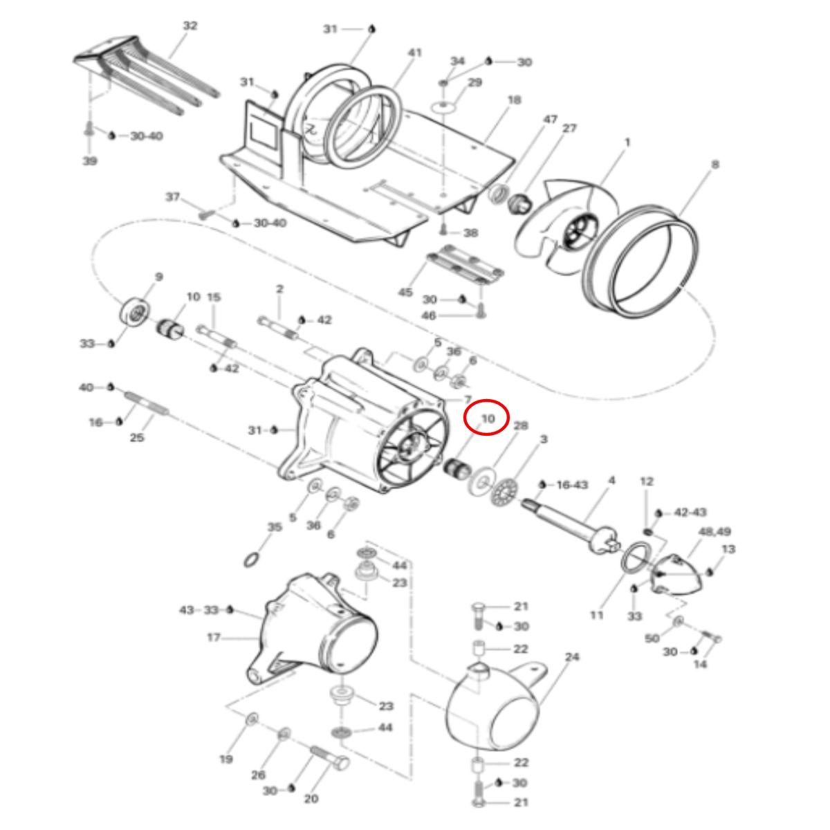 Cubo Entalhado da Hélice Jet Ski Sea Doo 2 Tempos  - Radical Peças - Peças para Jet Ski