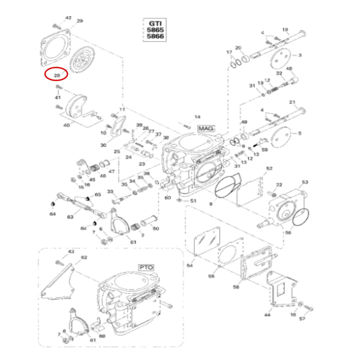 Diafragma Para Jet Ski Sea Doo e Yamaha Mikuni  MK-10-001  - Radical Peças - Peças para Jet Ski