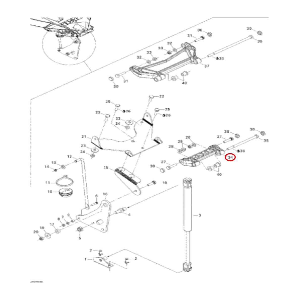 Dobradiça Tampa para Jet Ski Sea Doo GTX/RXT Pequena  - Radical Peças - Peças para Jet Ski