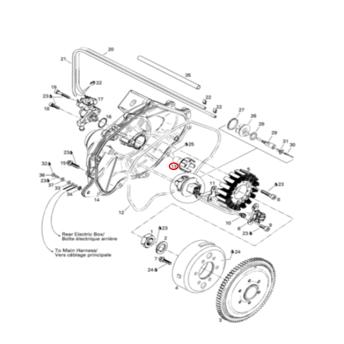 Eixo Bomba Óleo para Jet Ski Sea Doo 950  - Radical Peças - Peças para Jet Ski