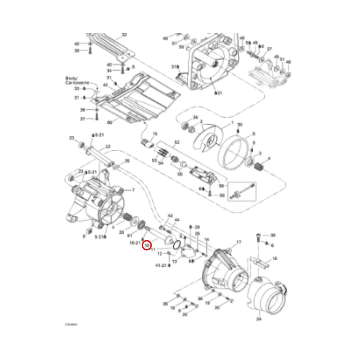 Eixo Turbina para Jet Ski Sea Doo 800 e GSXLTD 98  - Radical Peças - Peças para Jet Ski