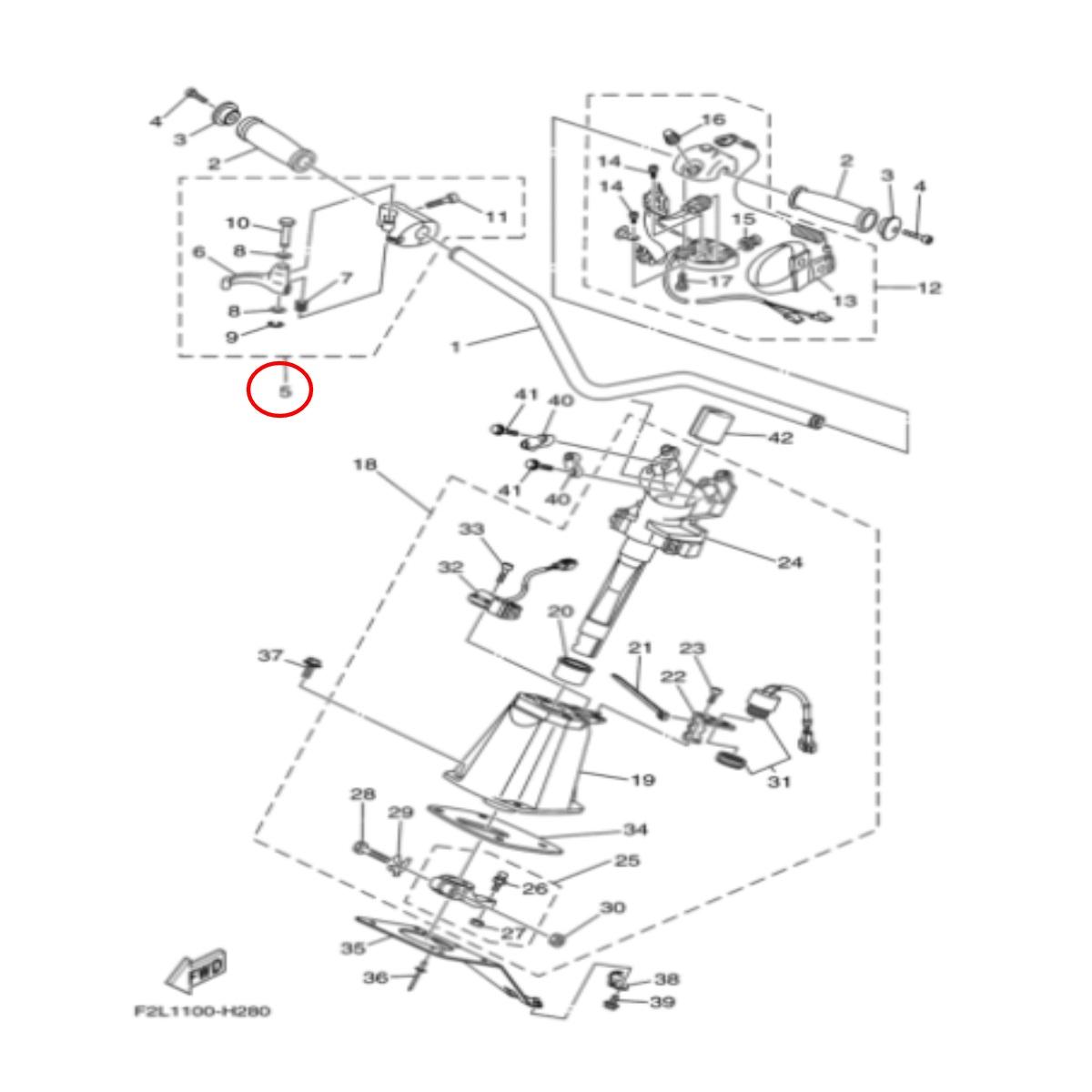 Gatilho Acelerador para Jet Ski Yamaha VX  - Radical Peças - Peças para Jet Ski
