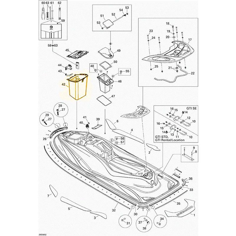 Geladeira Sea Doo Gti 4 Tec*  - Radical Peças - Peças para Jet Ski