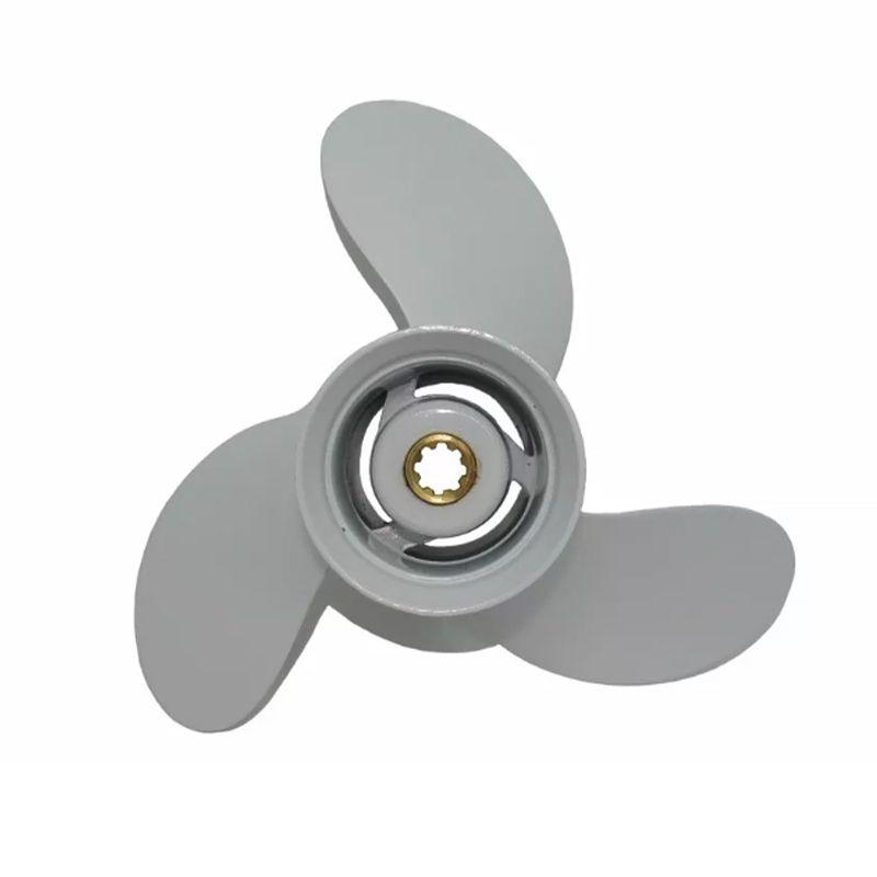 Hélice Para Motor de Popa Yamaha 25HP (DMS) Passo 9.7/8 x 10.1/2 Estriada c/ Escape (Mod: 664-45945-00EL)+  - Radical Peças - Peças para Jet Ski