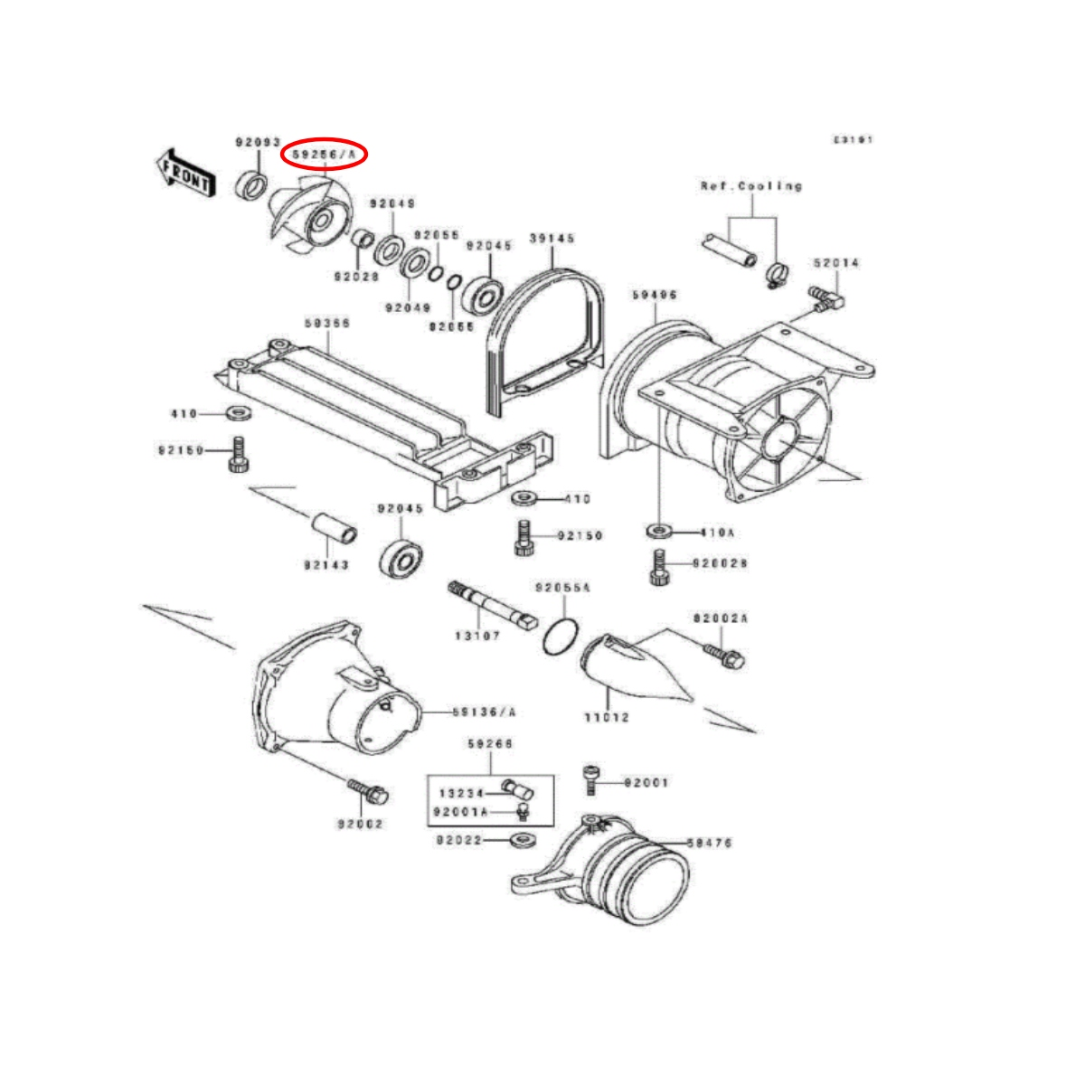 Helice Solas para Jet Ski Kawasaki sxi/sts/xi 750cc 14/21  - Radical Peças - Peças para Jet Ski