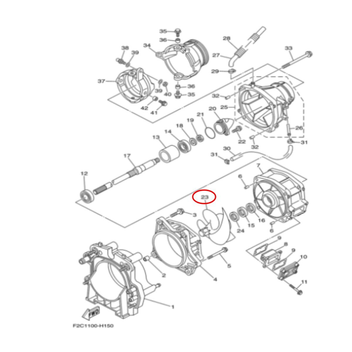 Hélice Solas para Jet Ski Yamaha Fzr/Fzs/Fx sho 155mm 14/21  - Radical Peças - Peças para Jet Ski