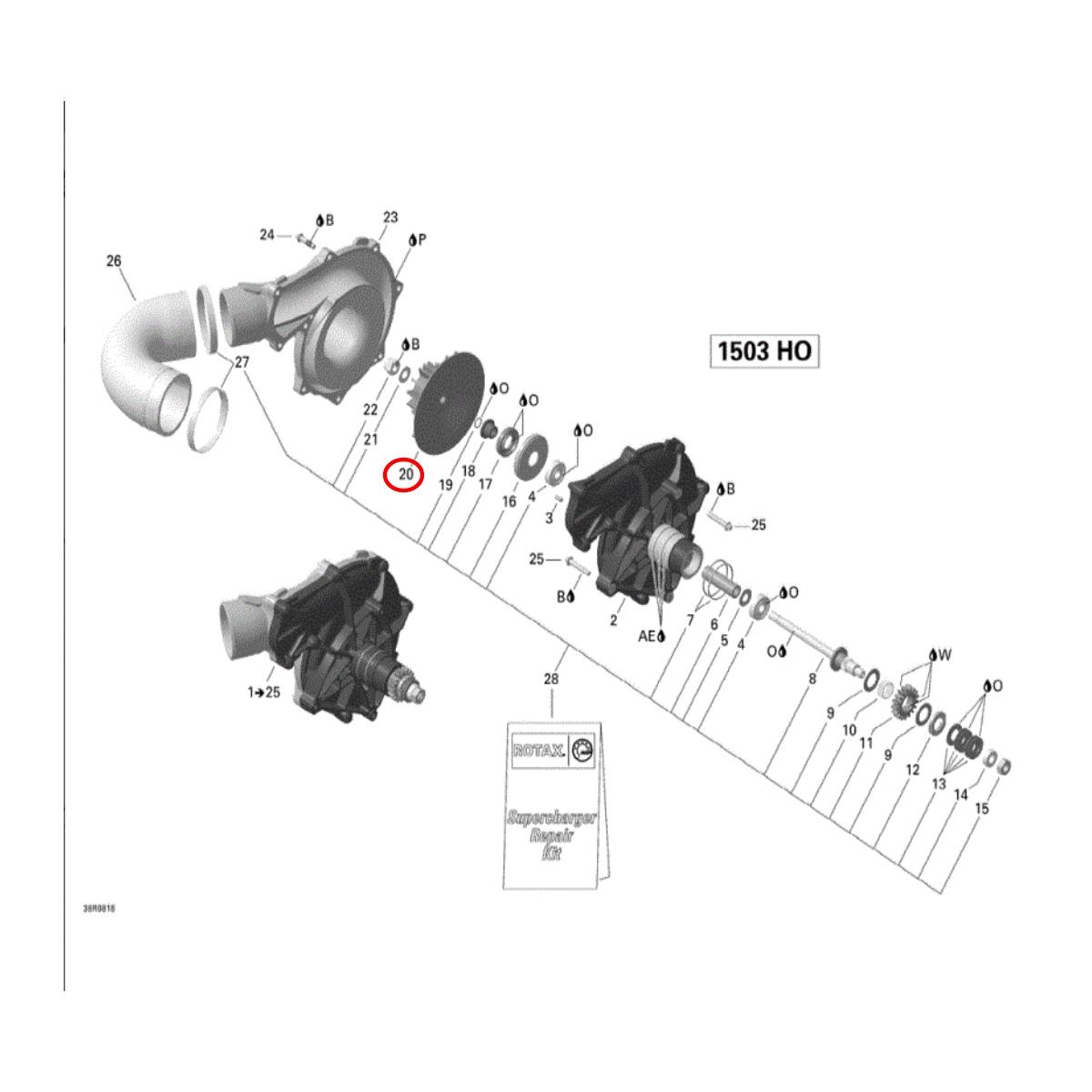 Hélice Supercharged Sea Doo 4 TEC*  - Radical Peças - Peças para Jet Ski