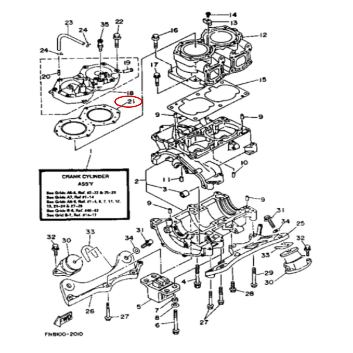 Junta Cabeçote Yamaha 700 Amianto Nacional   - Radical Peças - Peças para Jet Ski