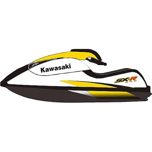 Kit Adesivo Jet Ski Kawasaki SXR 800 2006 Amarelo  - Radical Peças - Peças para Jet Ski