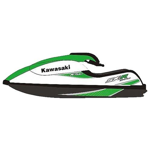 Kit Adesivo Jet Ski Kawasaki SXR 800 2007  - Radical Peças - Peças para Jet Ski