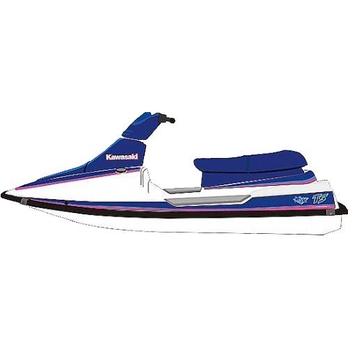 Kit Adesivo Jet Ski Kawasaki TS 91  - Radical Peças - Peças para Jet Ski