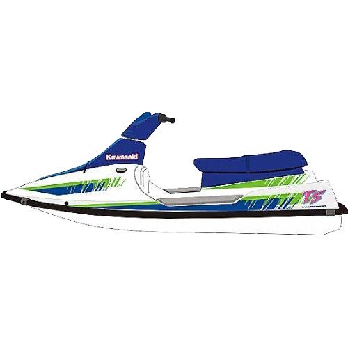Kit Adesivo Jet Ski Kawasaki TS 93  - Radical Peças - Peças para Jet Ski