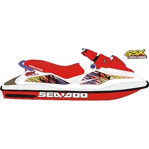Kit Adesivo Jet Ski Sea Doo GSX 1997+  - Radical Peças - Peças para Jet Ski