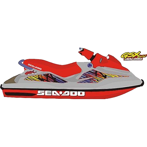Kit Adesivo Jet Ski Sea Doo GSX Limited 1997  - Radical Peças - Peças para Jet Ski