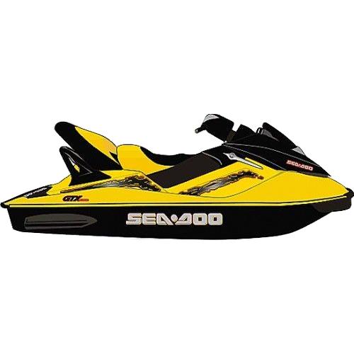 Kit Adesivo Jet Ski Sea Doo GTX 2003+  - Radical Peças - Peças para Jet Ski