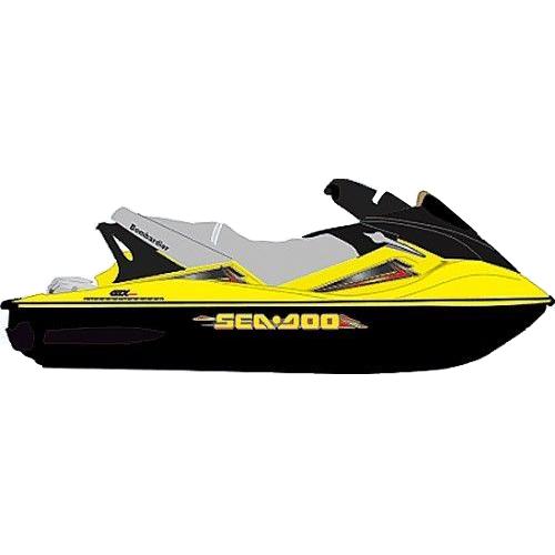Kit Adesivo Jet Ski Sea Doo GTX 2004+  - Radical Peças - Peças para Jet Ski