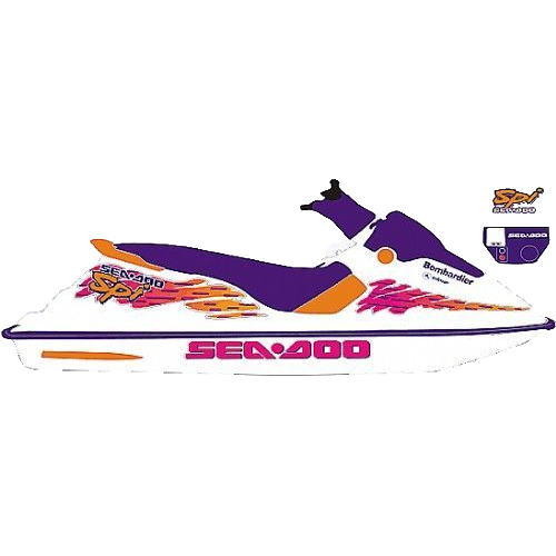 Kit Adesivo Jet Ski Sea Doo SPI 1995  - Radical Peças - Peças para Jet Ski