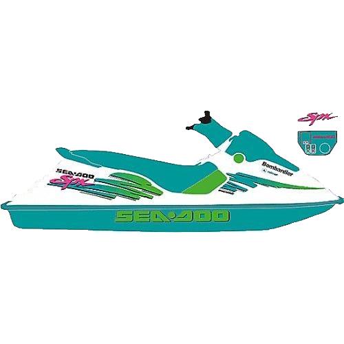 Kit Adesivo Jet Ski Sea Doo SPX 1994+  - Radical Peças - Peças para Jet Ski