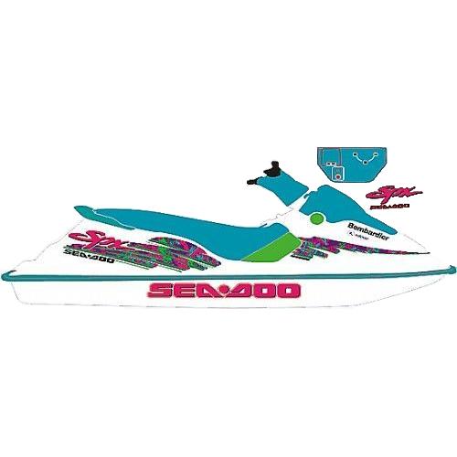 Kit Adesivo  Jet Ski Sea Doo SPX 1995  - Radical Peças - Peças para Jet Ski