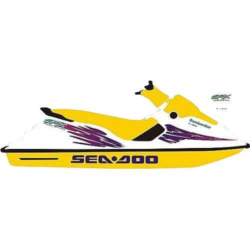 Kit Adesivo Jet Ski Sea Doo SPX 1997  - Radical Peças - Peças para Jet Ski