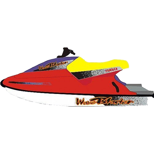 Kit Adesivo Jet Ski Yamaha Wave Blaster 1995  - Radical Peças - Peças para Jet Ski